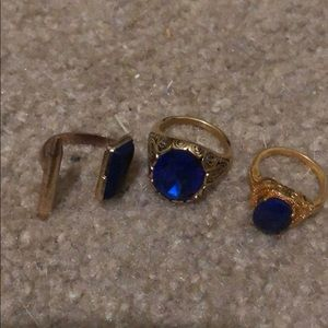 Accessories - Blue and gold ring